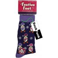 Purple Penguin Design Socks