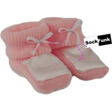 Pink Baby Girl Booties - Woolly/Silky