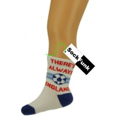 Football Design Ankle Socks - 'There's Always England'