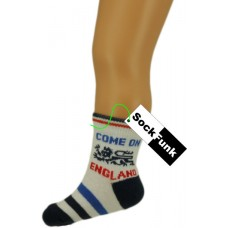 Football Design Ankle Socks 'Come On England'