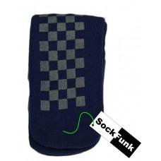 Slipper Socks - Blue Squares