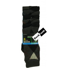 Coloured Argyle Line Socks