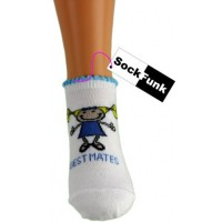 Girls 3 Pack Trainer Socks - Best Mates
