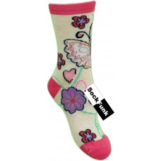 Butterfly Design Sock