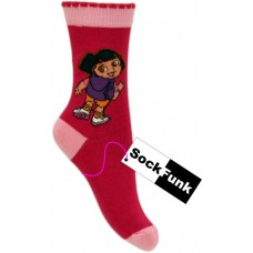 Dora The Explorer Socks- Bright Pink