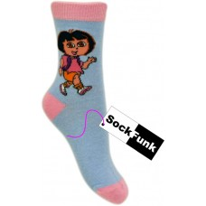 Dora The Explorer Socks- Light Blue