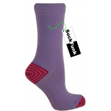 Lilac with stripey heel ankle socks by Jennifer Anderton