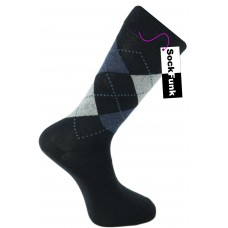 Argyle Socks by Pierre Calvini- Navy with Blue Dots
