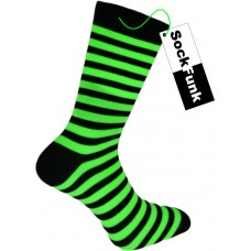 Super Stripey Neon Green Teddy Boy Socks