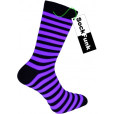 Super Stripey Neon Purple Teddy Boy Socks