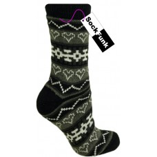 Heart Design Thermal Socks